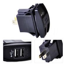 CAR WATERPROOF BLUE LED 12-24V 3.1A DUAL USB POWER SUPPLY CHARGER PORT SOCKET
