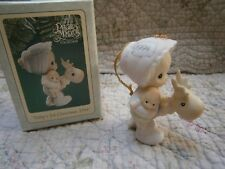 Precious Moments Ornament Babys 1st First Christmas Girl/Deer/Doll 1994 Mib