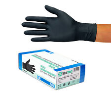 Nitril Handschuhe Einweg Einmal puderfrei ungepudert schwarz Gr M 100 Stück Box