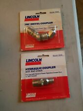 Lincoln 5845 & 5848 Hydraulic Coupler with Ball Check & Swivel for Grease Gun