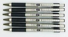 ZEBRA F.301BP BLACK BARREL ball point pen 0.7MM (BLUE INK ) 6PCS (F-301-BK-BL)