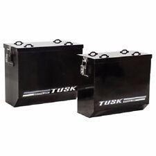 Tusk Aluminum Panniers Medium Black Dual Sport Adventure Saddle Bags Pannier