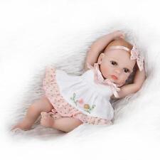 "Mini Reborn Baby Doll Full Silicone Anatomically Correct Girl 10"" Sleeping Doll"