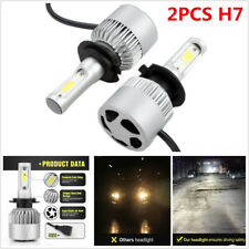 Car SUV 2Pcs H7 Conversion Cree COB LED Headlight Bulbs 16000lm 6500K Plug Play