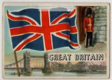 Flag Of Great Britain United Kingdom England Vintage Trade Ad Card