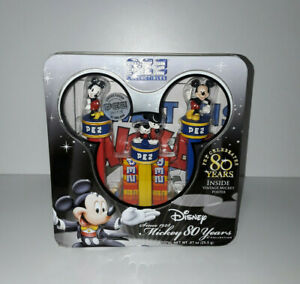 Limited Edition Mickey Mouse 80th Anniversary Pez Tin