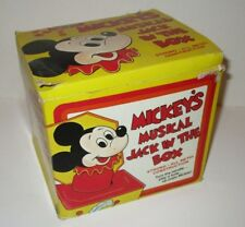 VINTAGE DISNEY MICKEY MOUSE CARNIVAL TIN POP UP JACK IN THE BOX AS-IS WITH BOX