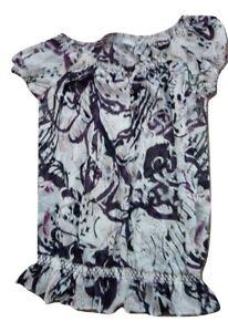Ladies Woman's Unisex Top Chiffon Multi Size 10 TU