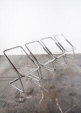Mid Century Modern Chrome Chair Set 4 Cidue Italian Chair Wire Spoke Baughman VG