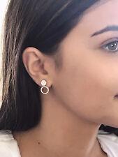 GENUINE 1.00CT CARAT DIAMOND STUD 3-IN-1 CLUSTER DESIGNER  EARRINGS VAL $9,120