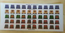 LEGO CUSTOM MINIFIG GLOSSY DECAL SET WORLD WAR ONE CENTRAL FORCES 35 FIGURE LOT