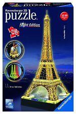 NEU Eiffelturm 216 Teile 3D LED Bauwerk Night Edition Puzzle Ravensburger