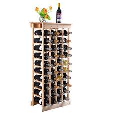 Weinregal aus Holz Flaschenregal Weinständer 44 Flaschen Holzregal Weinschrank