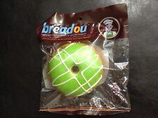 New NIP Breadou Squishy Green Donut Great Stocking Stuffer Fun Stress Relief Toy