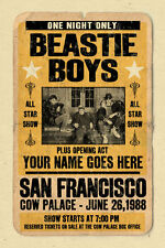 your name on a cool, personalized concert poster with the Beastie Boys