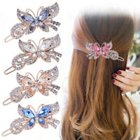 KQ_ Women Butterfly Shape Rhinestones Inlaid Hair Clip Hairpin Headwear