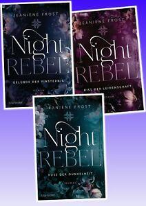 Night Rebel Trilogie von Jeaniene Frost  Vampirroman Kuss der Dunkelheit u.a.