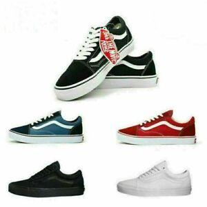 UK NEW Van Old Skool Skate Shoes Classic Canvas Sneakers Size UK3.5-UK9