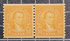 Scott 603 10 Cents Monroe MNH Coil Pair SCV $16.00