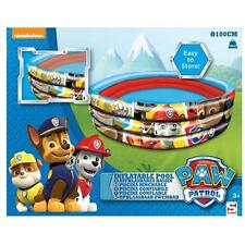 Paw Patrol Inflatable 3 Ring 100cm Swimming Paddling Pool Outdoor Summer New