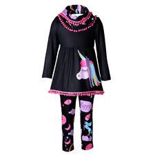 Unicorn Niños Bebé Niñas trajes Ropas Vestido Camiseta Prendas para el torso + Pantalones largos conjunto 2PCS