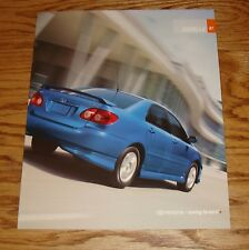 Original 2007 Toyota Corolla Sales Brochure 07