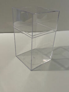 Lot of 19 Clear Plastic Display/Collector Protective Cases - Size 4x4x7.25 inch