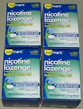 Sunmark Nicotine Lozenges Polacrilex Mint 4 Boxes 288 Lozenges 2mg Exp 06/21+