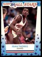 1989-90 FLEER ALL-STARS STICKER ISIAH THOMAS DETROIT PISTONS #6