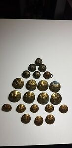 16 WW1 WW2 British Army General Service Buttons Various makers + 6 Signal Corps