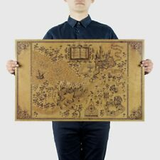 Wall Stickers Map of The Wizarding World of Movie Posters Decoration Frameless