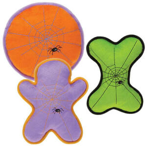 Grriggles SPINETINGLER Dog Toy Squeaker Soft Plush Pet Toys Halloween