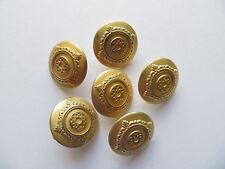 1970s Vintage Sm High Fashion Anodised Gold-tone Metal Coat Dress Buttons-18mm