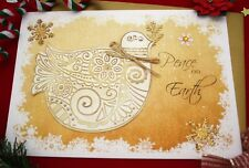 Large Personalised Peace to the World Dove Christmas Card