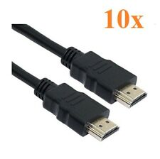 Lot of 10 - HDMI cables 6 FT long 1080P 3D DVD PS3 XBOX BlueRay Gold Connectors