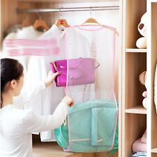 NEW Double-Layer Mesh Washing Foldable Clothes Laundry Basket Quick Drying Rack