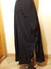 COS silk black maxi asymmetrical skirt size 8