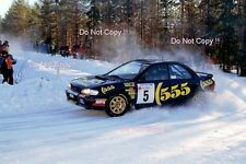 CARLOS SAINZ SUBARU IMPREZA 555 RALLY svedese fotografia 1995 2