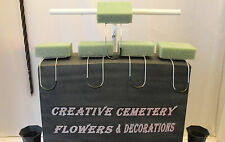 5 Regular Memorial Cemetery Flower Headstone/Tombstone Saddles With Floral Foam
