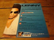 LENNY KRAVITZ !!!LENNY 2 PAGES!!!!RARE FRENCH PRESS/KIT