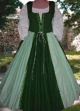 Medieval Renaissance Medieval Lothlorien Green 2pc FrtLcgBodiceDrstrOvrsk Lxl