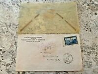 Vintage Postage Envelope 1941 - Postage to New York City - Rare Marks/Stamps