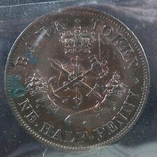 PC-5B2 ICCS MS-60 Corrosion Halfpenny 1852 token Upper Canada Bank Breton 720