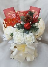 Luxury Lindt & Yankee Candles Chocolate Christmas Bouquet - Sweet Gift hamper