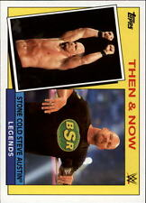 2015 Topps WWE Heritage Then and Now #25 Stone Cold Steve Austin