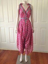 ON SALE NEW Pink Floral Lightweight Romper Playsuit Jumpsuit Fits All