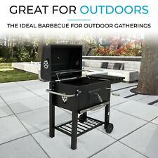 Fit4home Charcoal BBQ Grill w/ Lid Large Portable Barbecue REFURB GRADE B