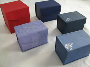 5 Lot Gift Boxes Lids Magnetic Closure Red Blue Bridesmaid Wedding Party Present