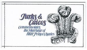 Turks & Caicos Is 1981 SG SB4 SG 657a 659a Royal Wedding Booklet