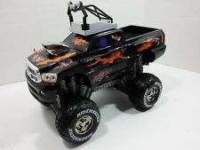 Ridemakerz Manually Custom Built Black Monster Truck Dodge Ram  w Accessories